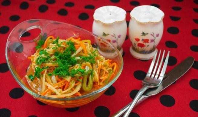 Корейська кухня – мариновані кабачки по корейські